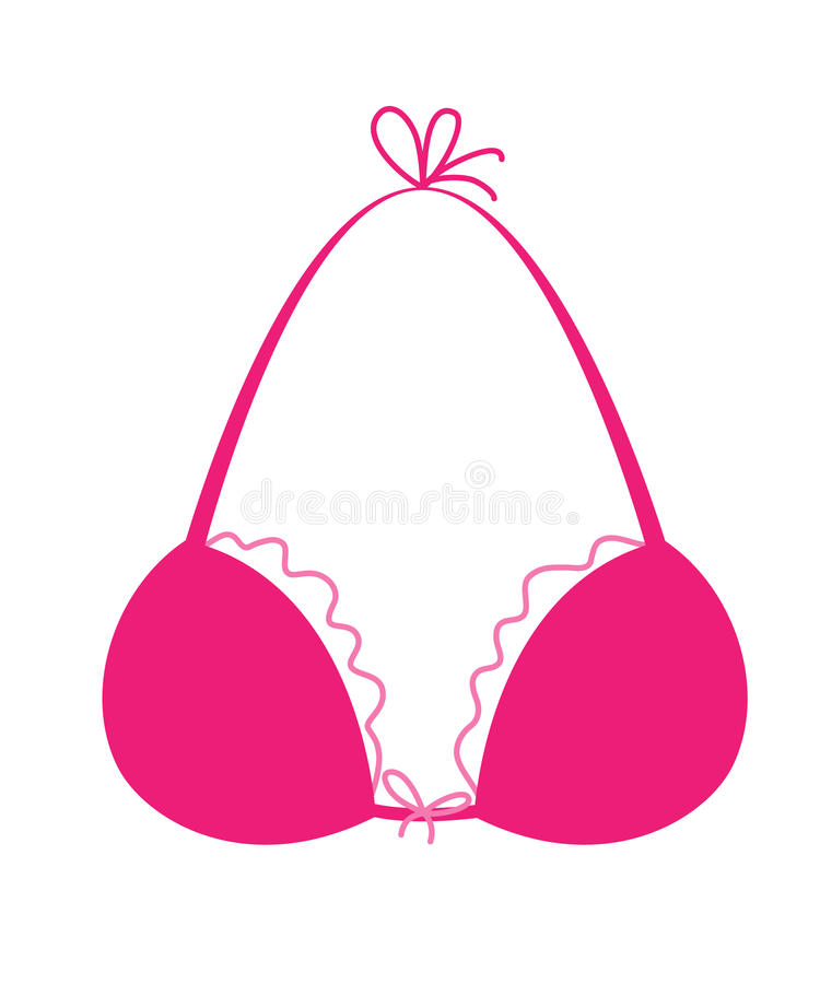 pink bra icon simle style drawing stock vector illustration of rh dreamstime com