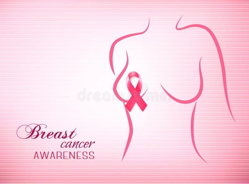 Pink breast cancer awareness background. royalty free illustration