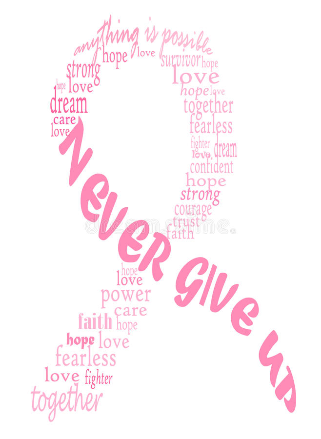 Pink breast cancer ribbon stock illustration