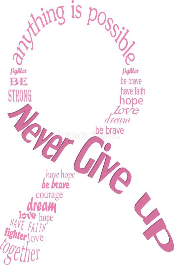 Pink breast cancer ribbon vector illustration