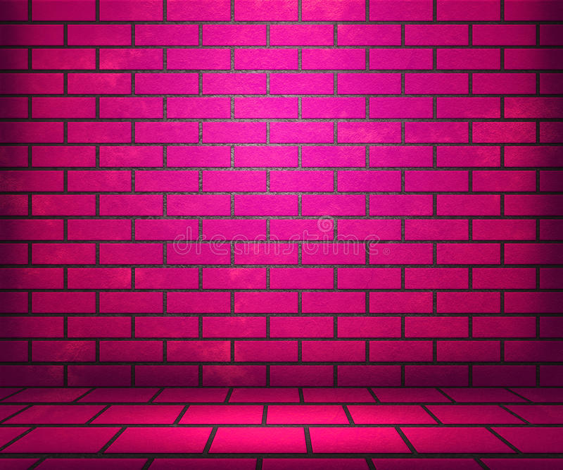 Pink Brick Stage Background Stock Photos Image 29790863