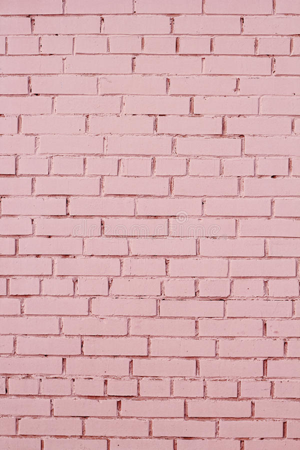 Pink Brick Wall With Shabby Paint Stock Image Image Of