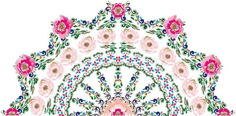 Download Pink Brier Flower Half Round Design Stock Vector - Image: 15547691