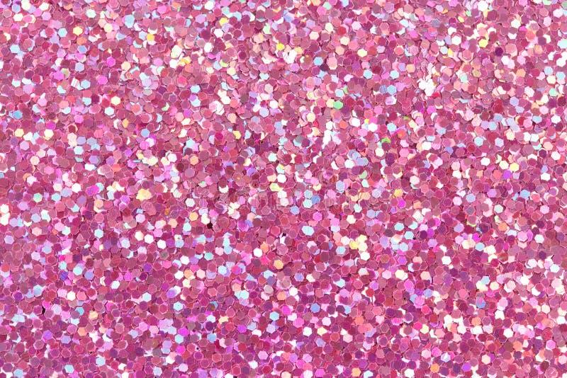 Pink glitter texture. stock photo