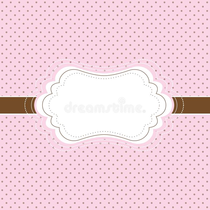Pink and brown vintage card stock illustration