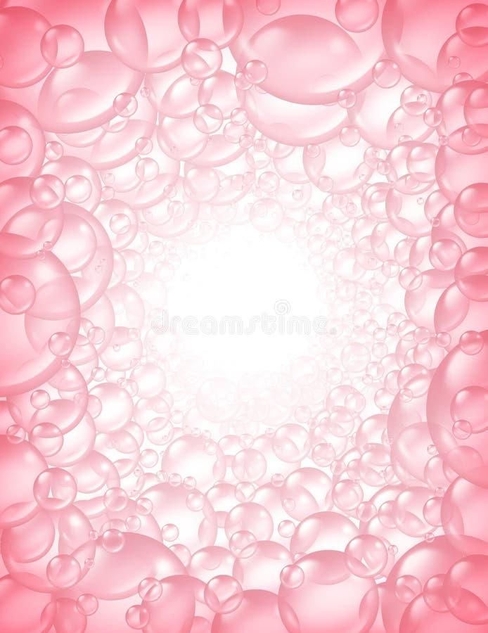 Download Pink Bubbles In Perspective Background Frame Stock Illustration - Illustration: 22217969