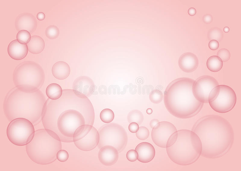 Pink bubbles vector stock illustration