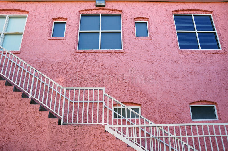 Download Pink Building With White Staircase Stock Image - Image: 12773771