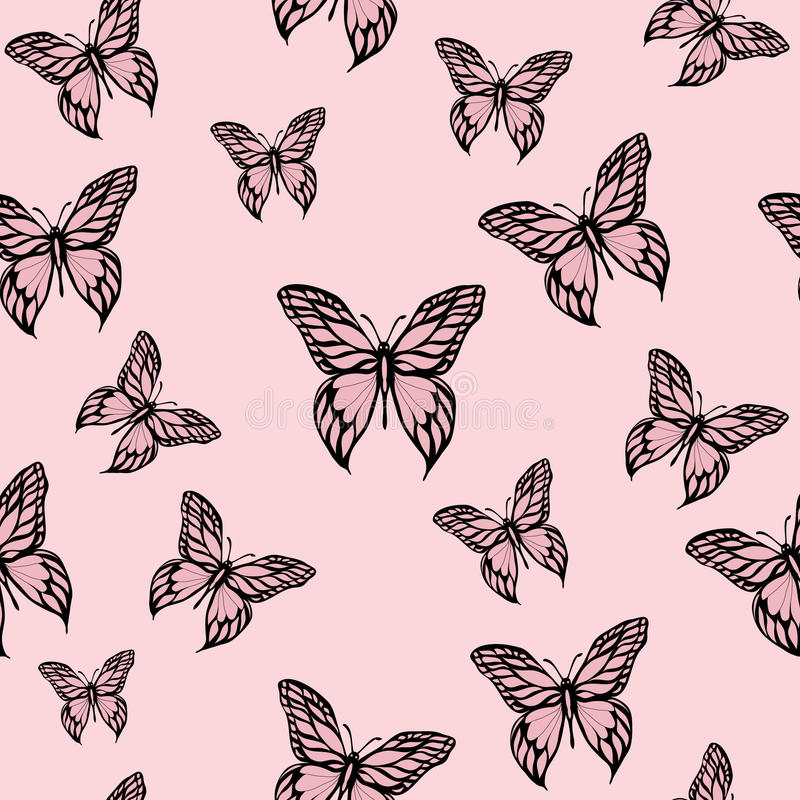 Pink Butterflies Stock Photos