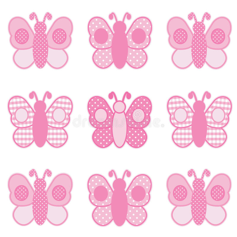 Download Pink Butterflies stock vector. Illustration of insect - 18126821