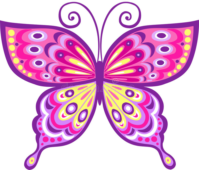 Download Pink Butterfly Vector Illustration Stock Vector - Illustration: 5690720