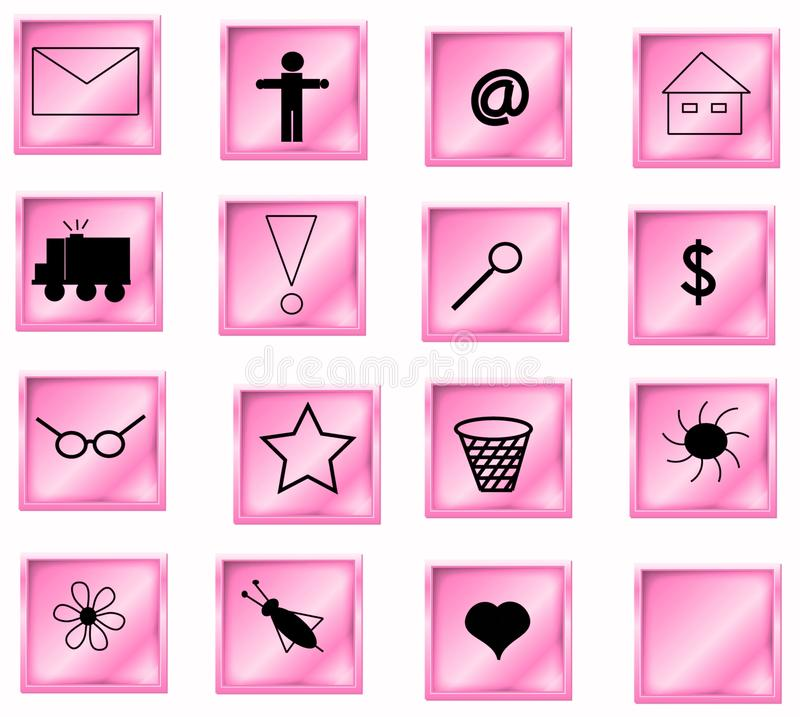 Pink Buttons Royalty Free Stock Images
