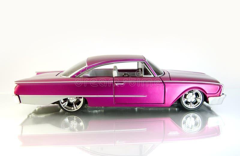 Pink cadillac royalty free stock image