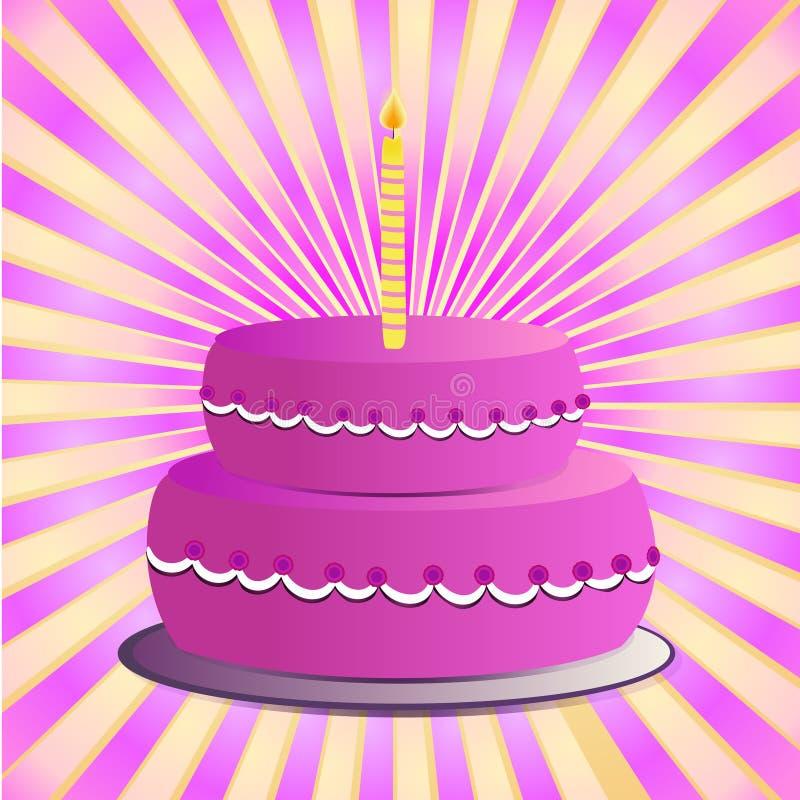 Pink cake royalty free stock image