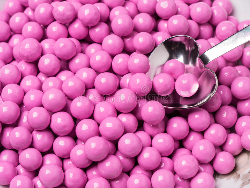 Pink Candy Covered Chocolates