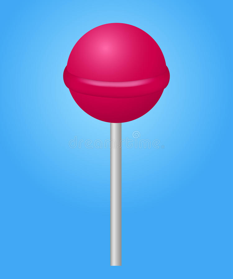 Pink candy lolipop. Vector illustration.