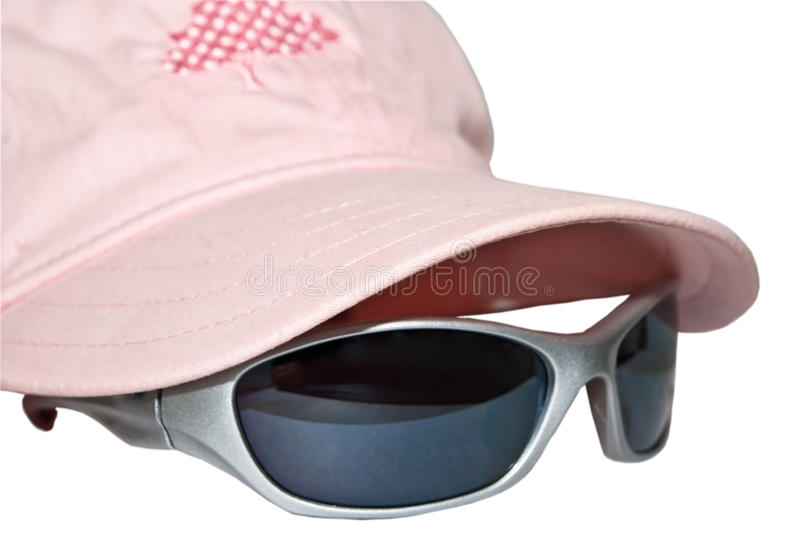 Download Pink Cap with Sunglasses stock image. Image of silver - 11910435