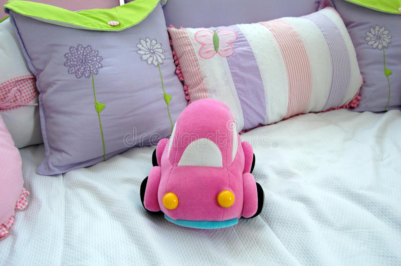 Pink Car Baby Toy Stock Photos