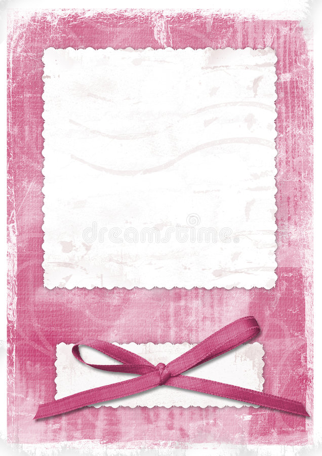 Pink card for greeting in style retro vector illustration