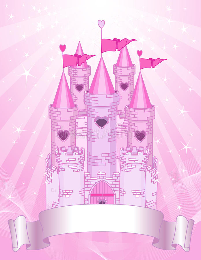 Download Pink Castle Place Card Royalty Free Stock Image - Image: 25334006