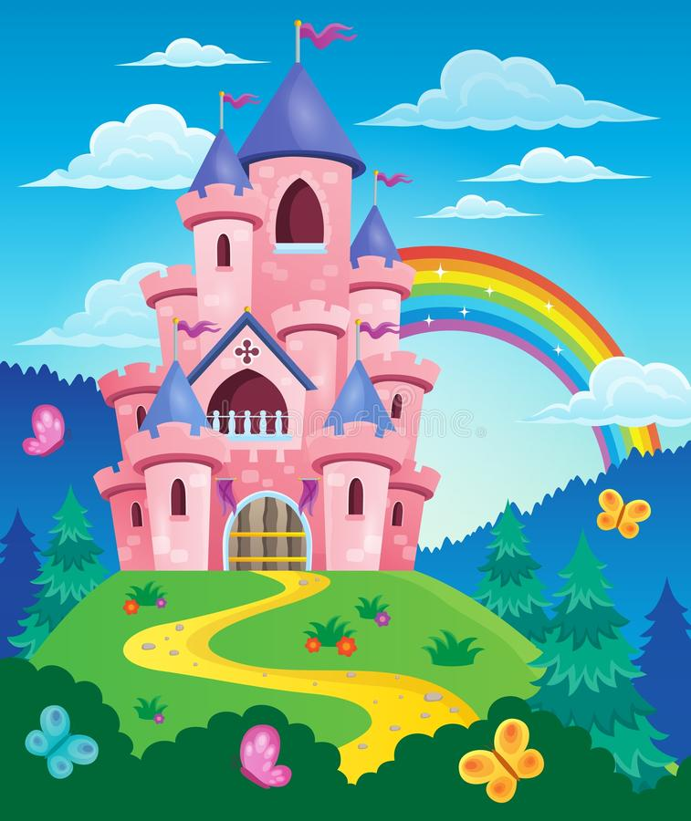 Free Pink Castle Theme Image 3 Stock Images - 55402964