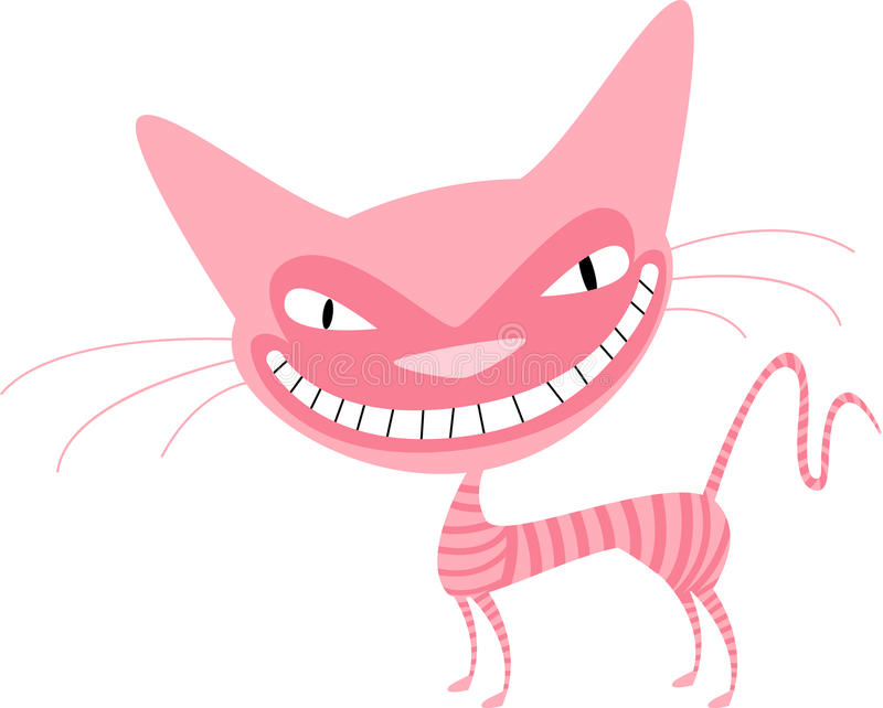 Download Pink cat with stripes stock vector. Image of domestic - 10124889