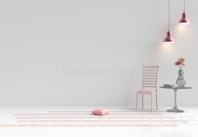 Rooms of Love on Valentine`s Day. Background and interior. 3D rende royalty free stock images