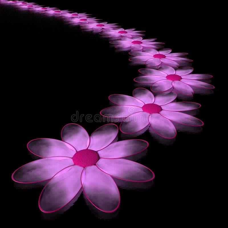 Pink chamomiles stock illustration