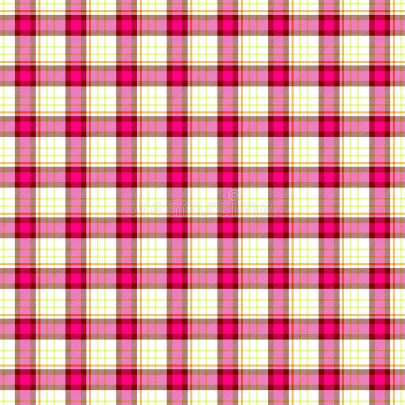 Pink Check Diamond Tartan Scot Plaid Fabric Material Seamless Pattern  Texture Background