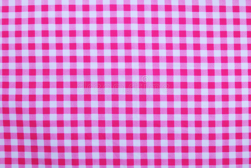 Good Pink Checkered Tablecloth Stock Photo