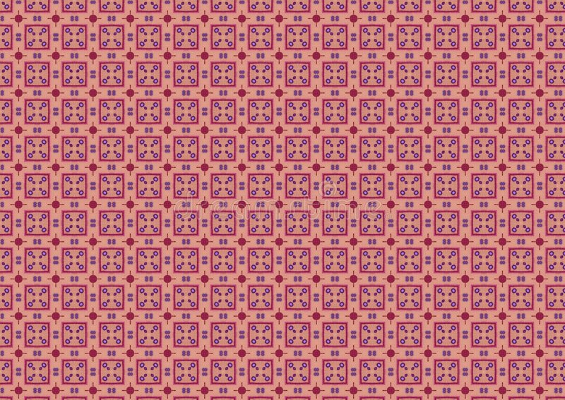 Pink Chequered Squares Pattern vector illustration