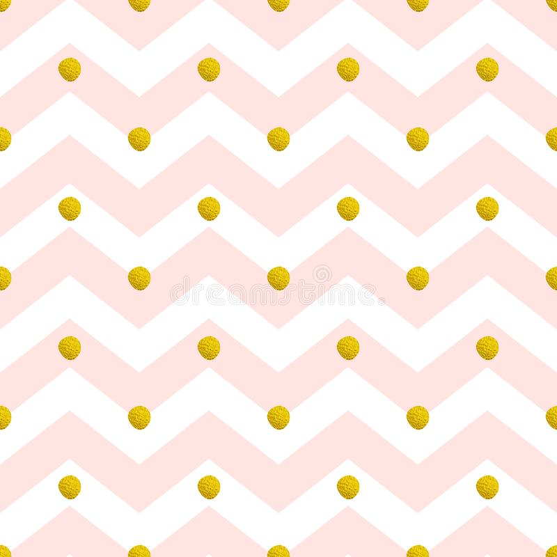 Pink chevron seamless pattern stock illustration
