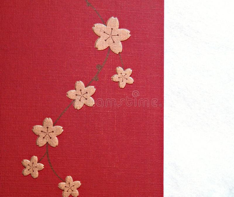 Pink Chinese New Year Lucky Flower Paper Pattern Royalty Free Stock Photos