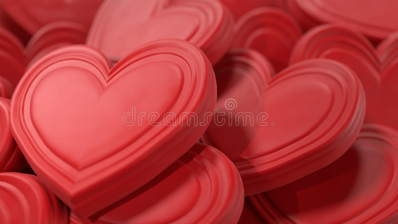 Pink Chocolate Hearts Background royalty free stock photography