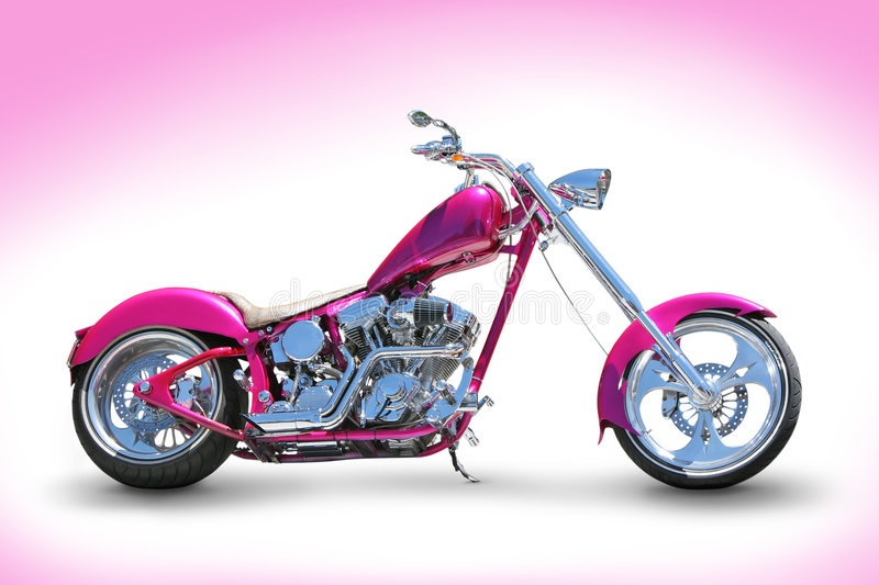 Download Pink chopper stock photo. Image of bikes, bikers, motorcycle - 7636894