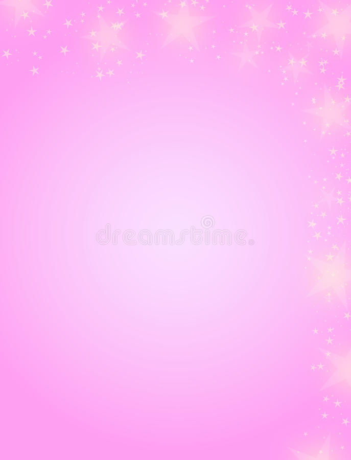 Pink christmas background. Magic abstract pink christmas background with stars stock illustration