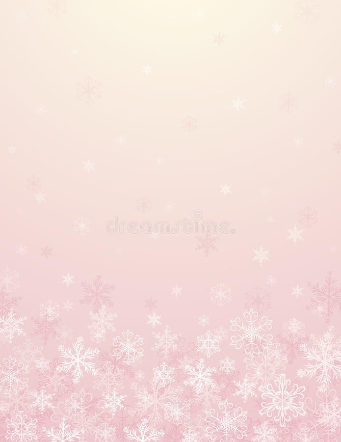 Pink christmas background stock photo