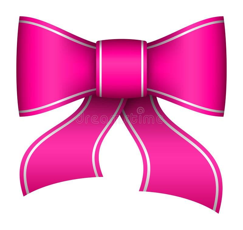 Pink christmas ribbon bow stock illustration