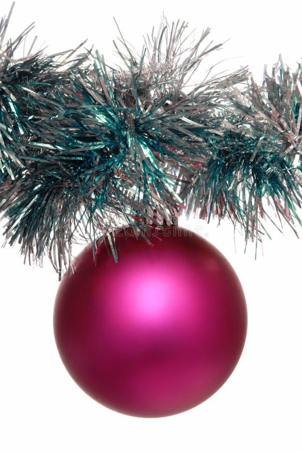 Pink christmas-tree decoration royalty free stock photo