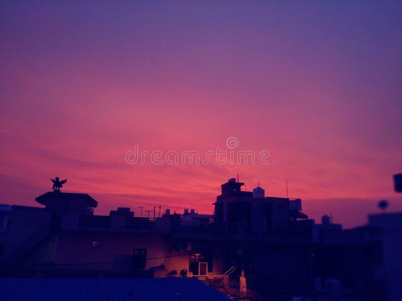 Pink City sun dream royalty free stock photos