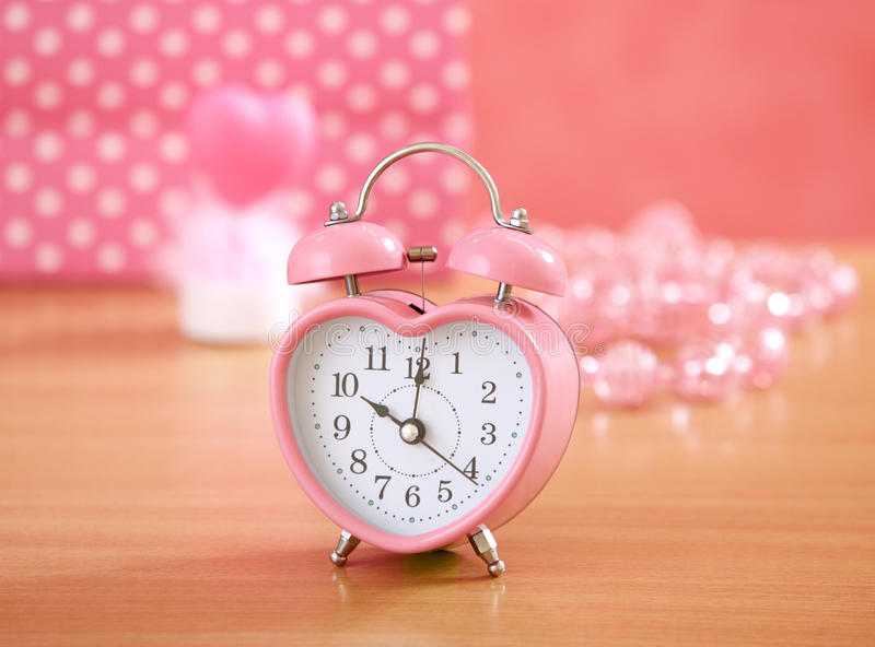 Pink clock royalty free stock photos