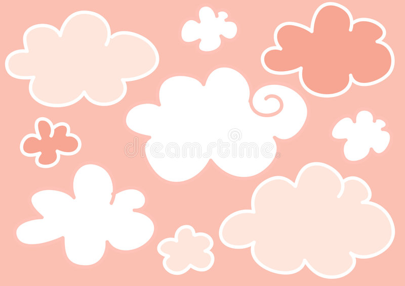Pink Clouds Background Stock Images