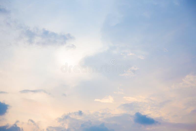 Pink cloudy sky stock photos