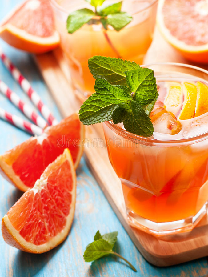 Download Pink Cocktail With Fresh Grapefruit Stock Photo - Image: 83702732