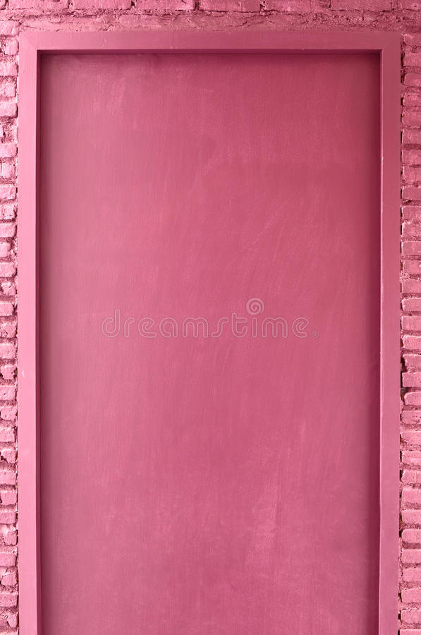 Pink color door royalty free stock photography