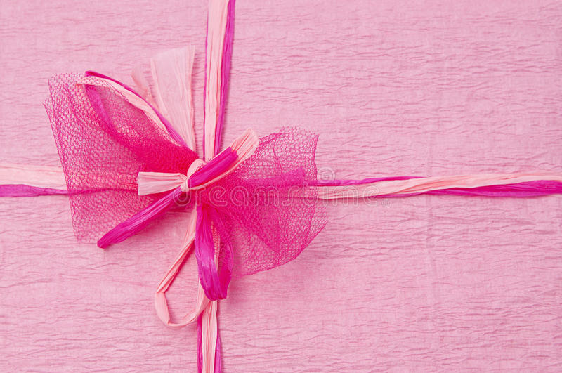 Download Pink Color Gift Box With Ribbon Stock Image - Image: 26614323