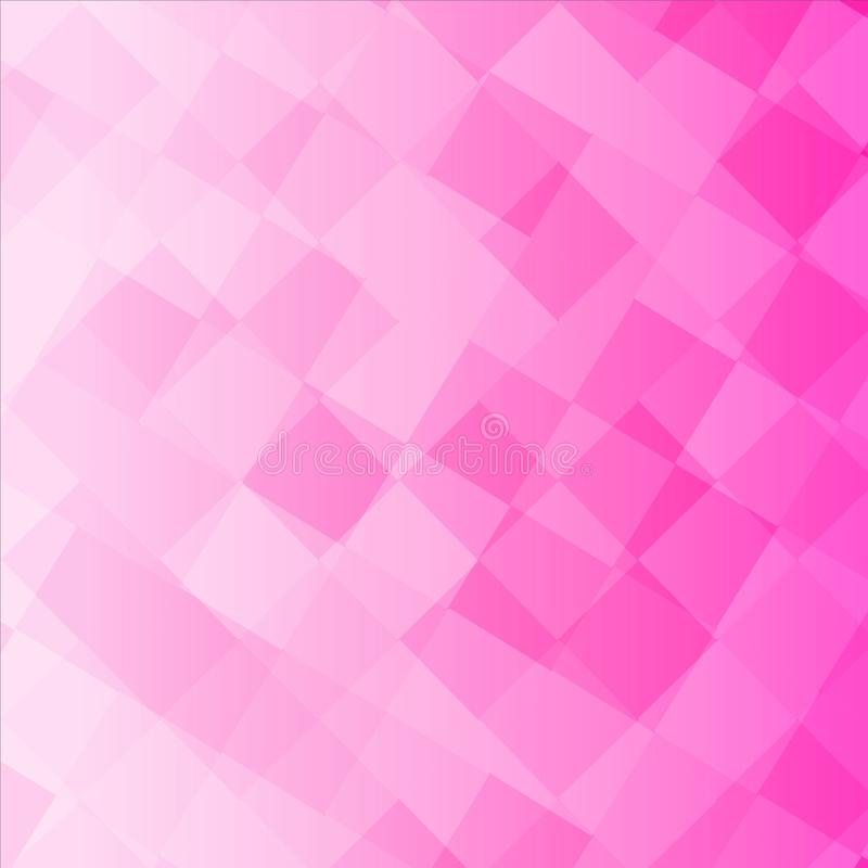 Pink color squares Much Vector Background. Pink squares Vector Background Orange Circle Refreshing light shine yellow unclear Cloudy triangle Red purple square royalty free illustration