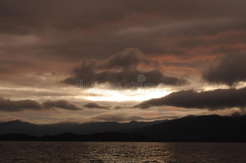 Pink color takes over the dawn. royalty free stock images