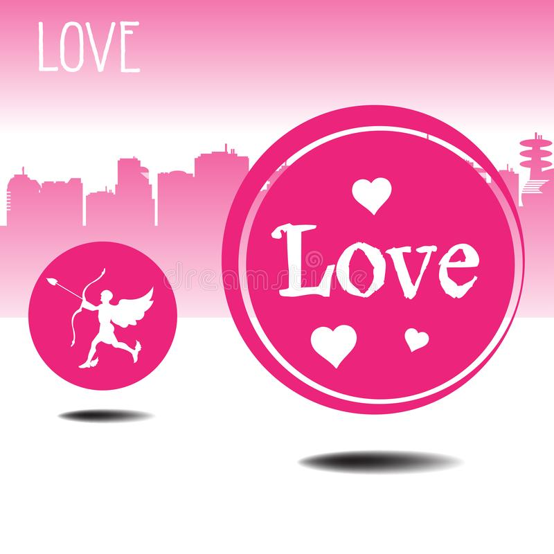 Rounded love symbols stock photography