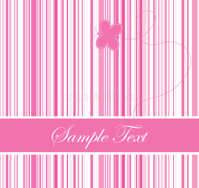 Pink colored barcode background with a butterfly vector illustration